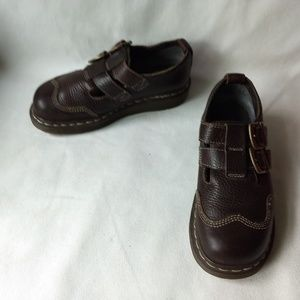 DOC MARTENS WOMEN'S CATE BROWN DBL BUCKLE SHOES 6